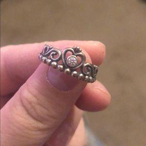 Princess ring from Pandora